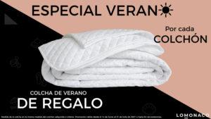 Oferta colcha de verano de regalo con la compra de colchón LOMONACO en Ocasofás Alhama